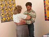 Mature lady in sucking session