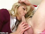 Creamy facial for milf bitch