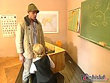Busty teacher banged in a classroom