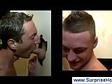Straight hunk sucking dude at gloryhole