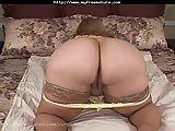 Mature BBW shows her ass