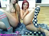 2 Crazy Sluts Get Each Other Off On Cam
