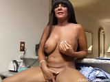 Big tits cougar shows off her sexy body