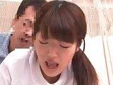 Asian nurse pleases a patient