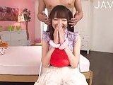 Jap teenie gets her snatch toyed