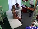 Blonde patient gets a pussy examination