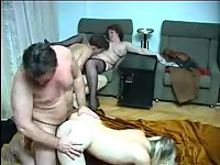 Two couples fuck in one room