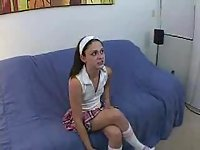 Brunette teen ramming with hard dong