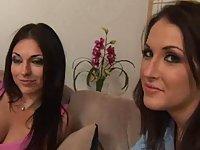 Brunette lesbos trio sex