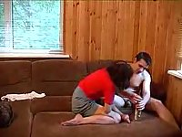Drunk couple in amateur action