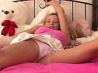 Cute teen and her sex toy