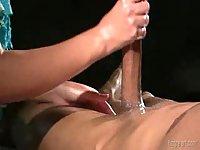 Big cock stroking up cumming