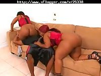 Black very big ass whores sharing cock