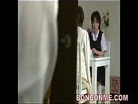 Japanese girl face cummed scene 1