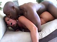 Naomi drilled by black cock