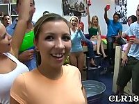 College sexy girl gets drilled at party