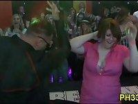 Wild patrty at night club
