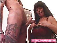 Horny grandma who loves studs