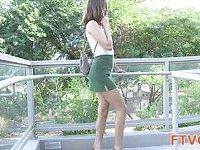 Gal demonstrates hot body scene 3