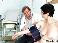 Horny mature mom full body exam