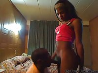 Unbelievably Sexy Black Hung Teen Shemale