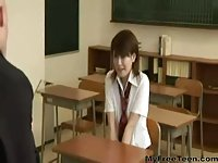 Japanese schoolbabe fucked by teacher