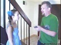 Babysitter Fucked By Midget