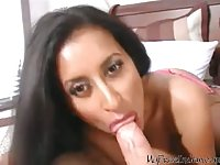 Sexy Desi Milf Blowjob Her Lover