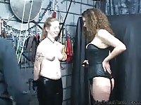 Sex Slave Gets Bound By Leather Cuffs