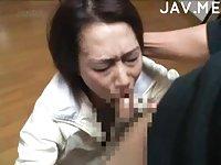 Jap mature on her knees