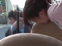 Japanese banged in a bus
