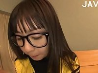 Asian Chick In Suit Giving Head To POV
