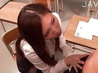 Horny teacher drilled by student