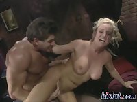 This blonde is horny