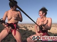 Two Gorgeous Lesbians Are Tied Up And Eating Each Other
