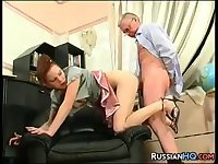 Russian Teen Drilled By Her Step Father