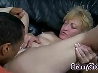 Blonde Grandma Licked And Fucked