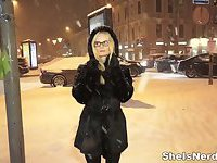 She Is Nerdy - Winter-time casual fuck