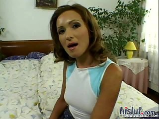 Angela Winter holes DPed hard