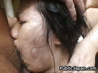 Hot asian babe is fucked in the hot spring