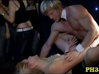 Wild blowjobs at party