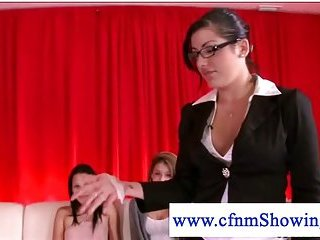 Cfnm lady fucked by naked guy