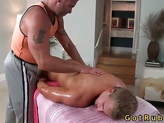 Cute guy gets massaged