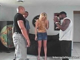 horny blonde slut sucks huge cock and gets fucked hard anal