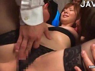 Japanese cutie sucks in public