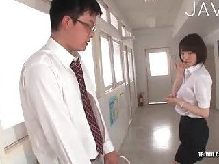 Jap teacher sucks cocks
