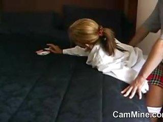 Teen Schoolgirl Getting drilled