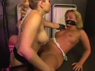 Lesbian slave anal domination